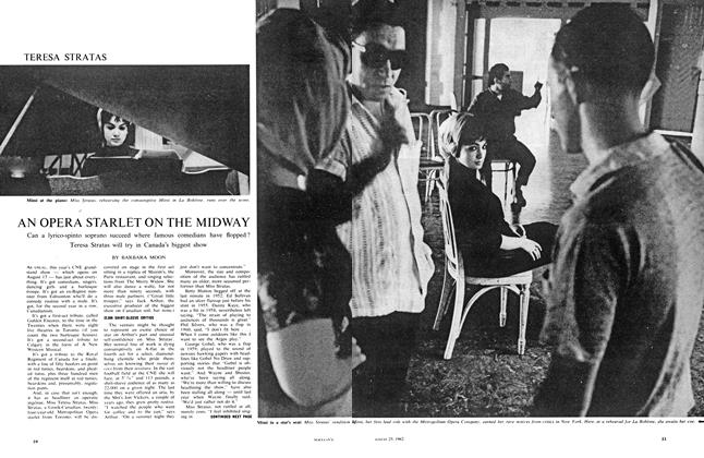 Article Preview: AN OPERA STARLET ON THE MIDWAY, August 1962 | Maclean's