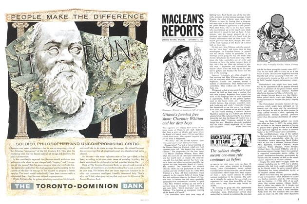 Article Preview: The cabinet shuffle means one-man rule continues as before, September 1962 | Maclean's