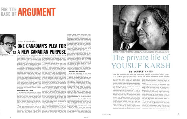 Article Preview: The private life of YOUSUF KARSH, October 1962 | Maclean's