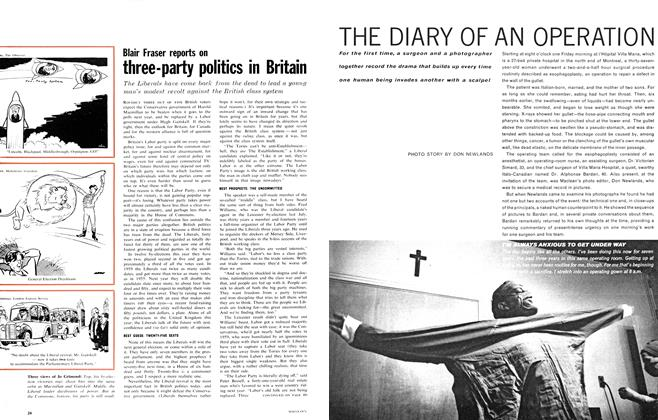 Article Preview: three-party politics in Britain, October 1962   Maclean's