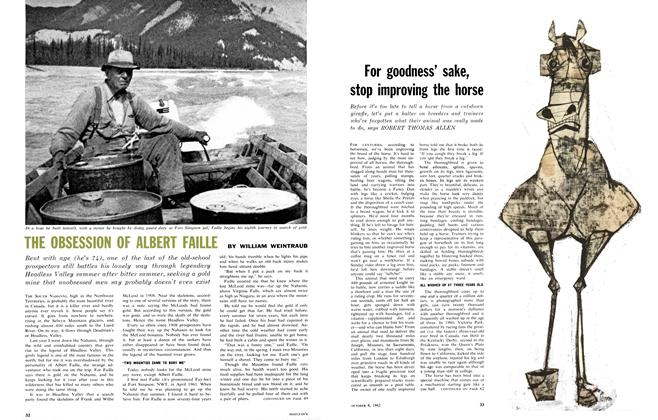Article Preview: For goodness' sake, stop improving the horse, October 1962 | Maclean's