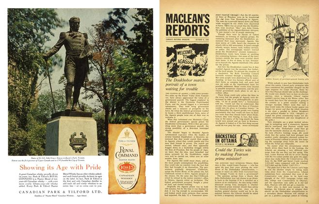 Article Preview: BACKSTAGE IN OTTAWA, October 1962 | Maclean's