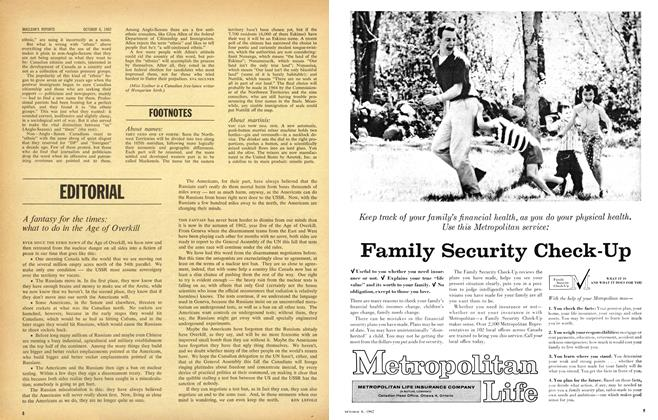 Article Preview: EDITORIAL, October 1962 | Maclean's