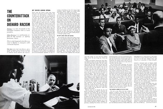 Article Preview: THE COUNTERATTACK ON DIEHARD RACISM, October 1962 | Maclean's