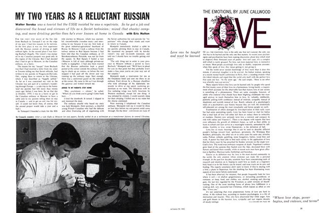 Article Preview: THE EMOTION LOVE, October 1962 | Maclean's