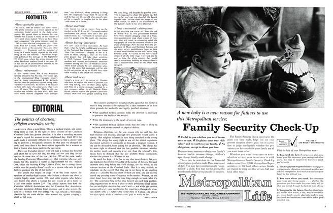 Article Preview: EDITORIAL, November 1962 | Maclean's