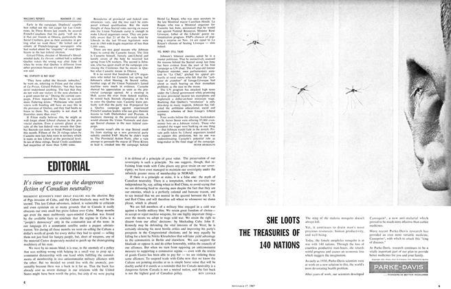 Article Preview: EDITORIAL, November 1962   Maclean's