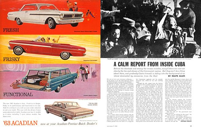 Article Preview: A CALM REPORT FROM INSIDE CUBA, November 1962 | Maclean's