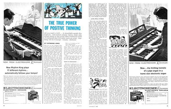 Article Preview: THE TRUE POWER OF POSITIVE THINKING, November 1962 | Maclean's