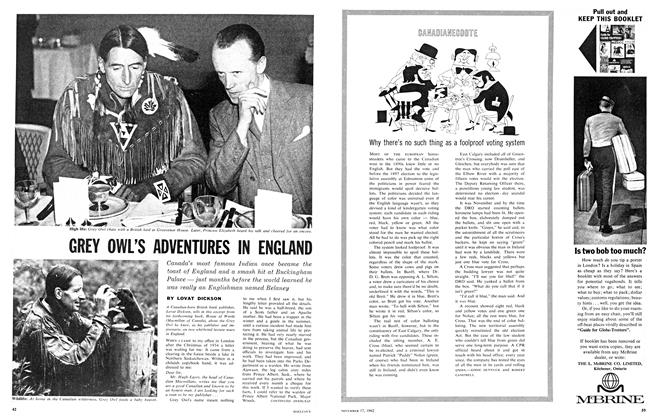 Article Preview: GREY OWL'S ADVENTURES IN ENGLAND, November 1962 | Maclean's