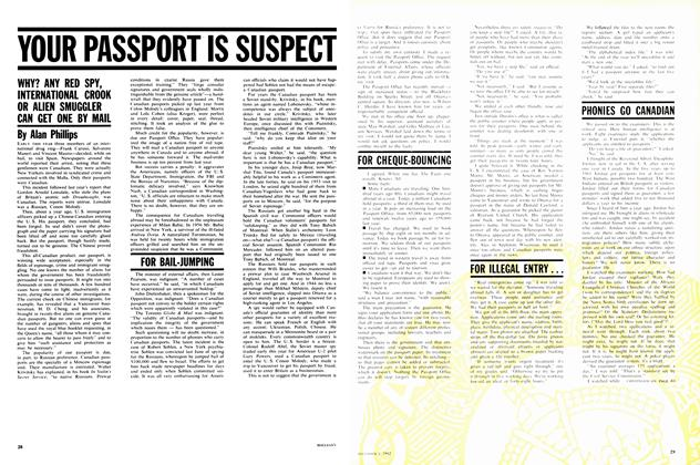 Article Preview: YOUR PASSPORT IS SUSPECT, December 1962 | Maclean's