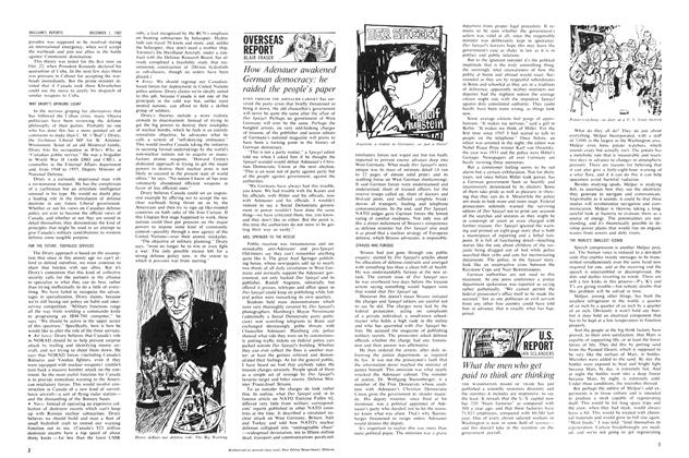 Article Preview: What the men who get paid to think are thinking, December 1962 | Maclean's