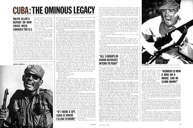 Article Preview: CUBA:THE OMINOUS LEGACY, December 1962 | Maclean's