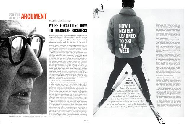 Article Preview: FOR THE SAKE OF ARGUMENT, December 1962 | Maclean's