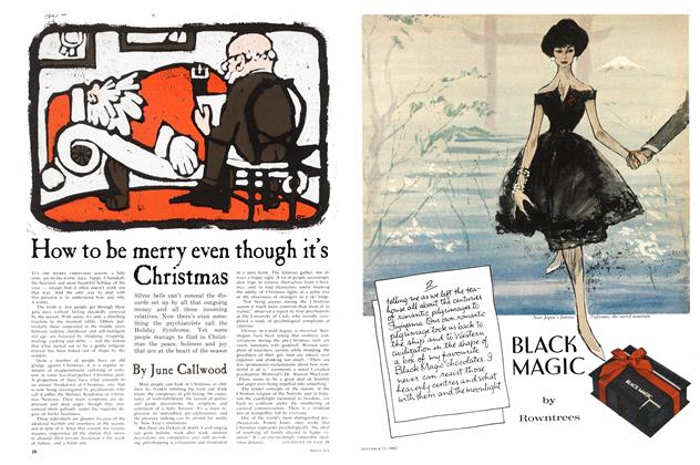 Article Preview: How to be merry even though it's Christmas, December 1962 | Maclean's