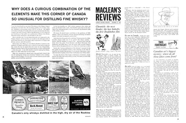 Article Preview: Canadian art's biggest mystery: where do all those fakes come from?, December 1962 | Maclean's