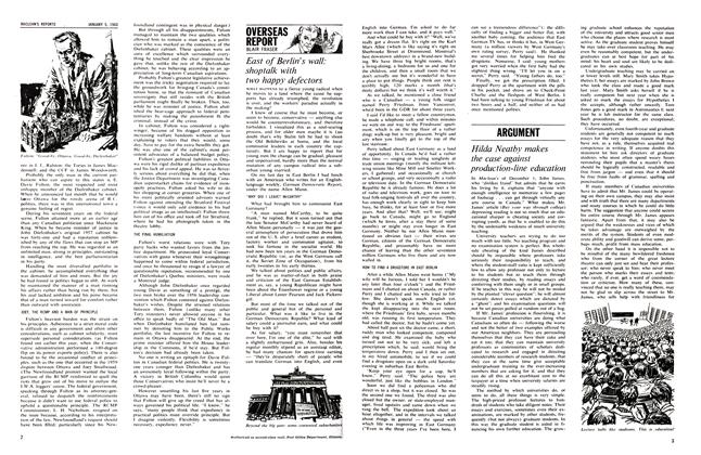 Article Preview: East of Berlin's wall: shop talk with two happy defectors, January 1963 | Maclean's