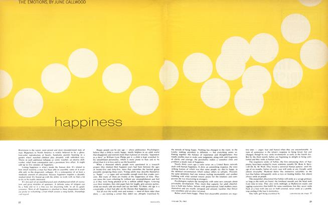 Article Preview: happiness, January 1963 | Maclean's