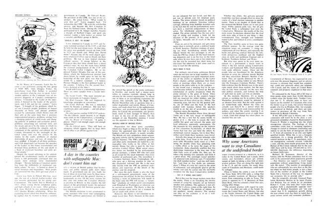 Article Preview: A day in the counties with unflappable Mac: don't count him out, January 1963 | Maclean's