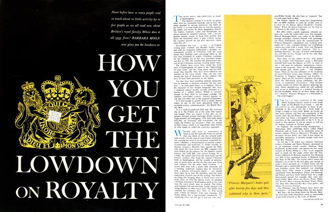 Article Preview: HOW YOU GET THE LOWDOWN ON ROYALTY, January 1963 | Maclean's