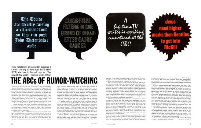 Article Preview: THE ABCs OF RUMOR-WATCHING, February 1963 | Maclean's