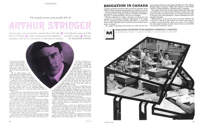 Article Preview: The purple prose and purple life of ARTHUR STRINGER, February 1963 | Maclean's