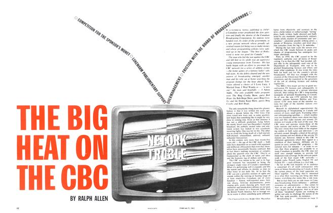 Article Preview: THE BIG HEAT ON THE CBC, February 1963 | Maclean's