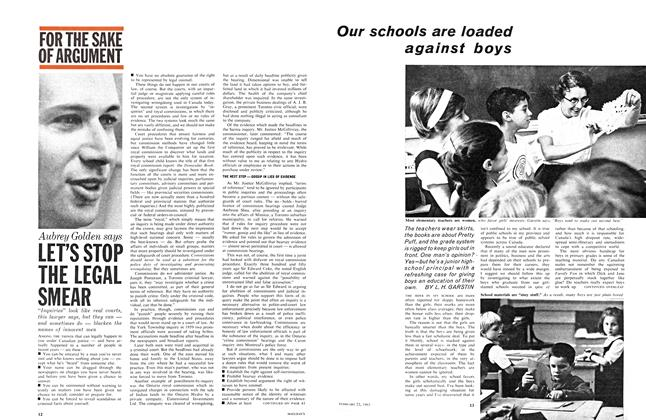 Article Preview: LET'S STOP THE LEGAL SMEAR, February 1963 | Maclean's