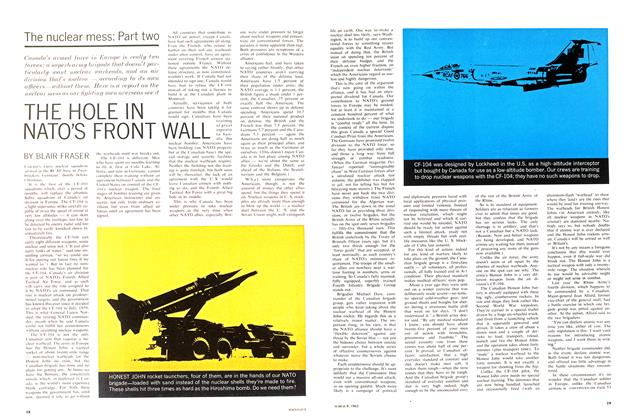 Article Preview: THE HOLE IN NATO'S FRONT WALL, March 1963 | Maclean's