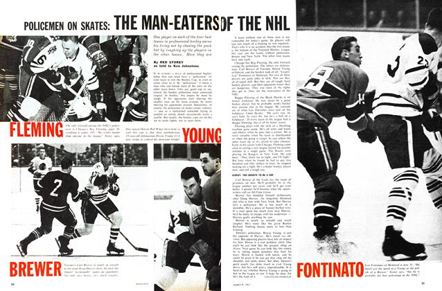 Article Preview: POLICEMEN ON SKATES: THE MAN-EATERS OF THE NHL, March 1963 | Maclean's