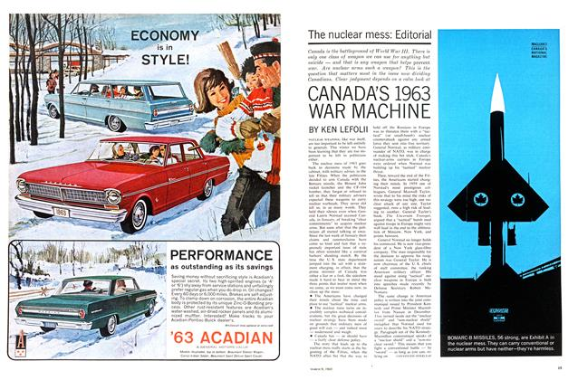 Article Preview: CANADA'S 1963 WAR MACHINE, March 1963 | Maclean's