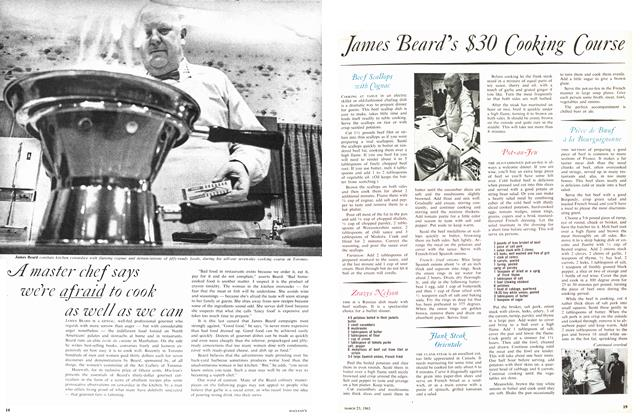 Article Preview: James Beard's $30 Cooking Course, March 1963 | Maclean's