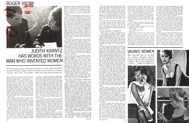 Article Preview: JUDITH KRANTZ HAS WORDS WITH THE MAN WHO INVENTED WOMEN, March 1963 | Maclean's