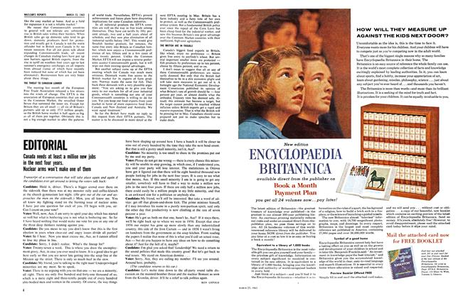 Article Preview: EDITORIAL, March 1963 | Maclean's