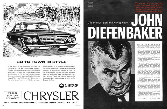 Article Preview: The powerful gifts and glaring flaws of JOHN DIEFENBAKER, March 1963 | Maclean's