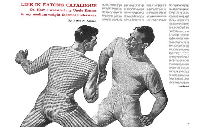 Article Preview: LIFE IN EATON'S CATALOGUE, April 1963 | Maclean's