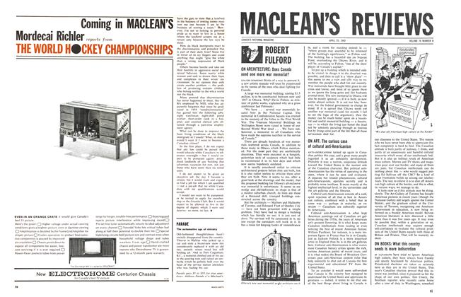 Article Preview: ROBERT FULFORD, April 1963 | Maclean's