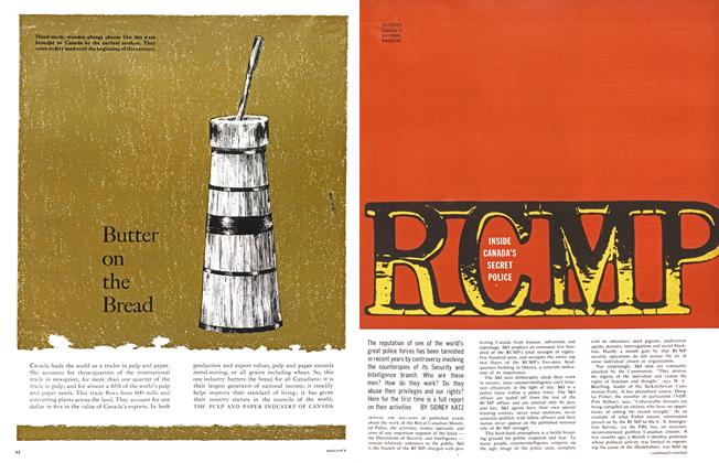 Article Preview: RCMP INSIDE CANADA'S SECRET POLICE, April 1963 | Maclean's