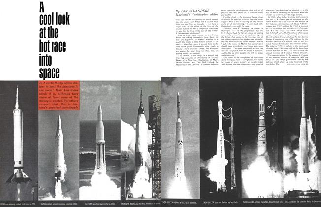 Article Preview: A cool look at the dot race into space, April 1963 | Maclean's