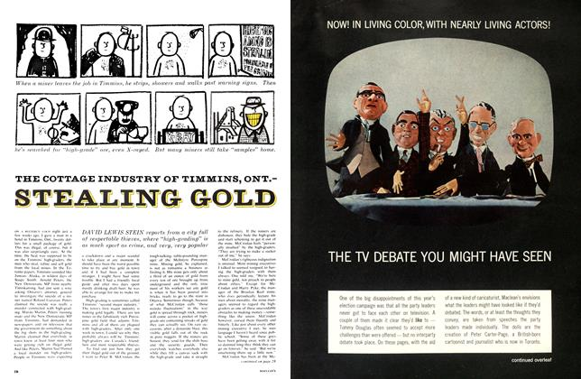 Article Preview: THE COTTAGE INDUSTRY OF TIMMINS, ONT.STEALING GOLD, May 1963 | Maclean's