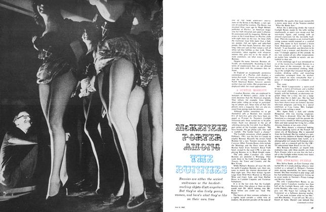 Article Preview: McKENZIE PORTER AMONG THE BUNNIES, May 1963 | Maclean's