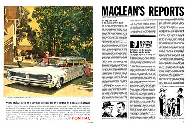 Article Preview: BACKSTAGE IN OTTAWA, May 1963 | Maclean's