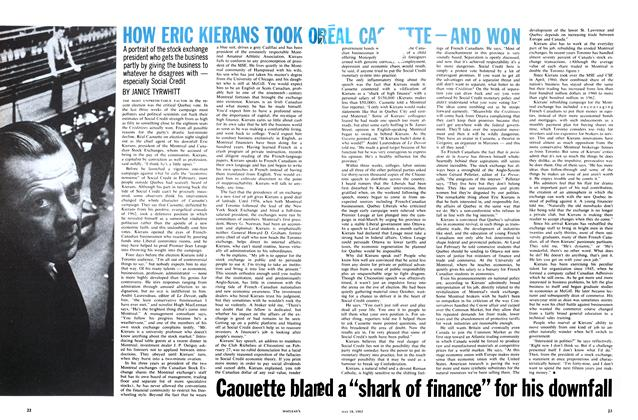Article Preview: HOW ERIC KIERANS TOOK ON REAL CAOUETTE—AND WON, May 1963 | Maclean's