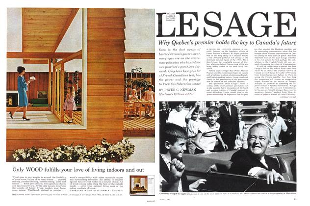 Article Preview: JEAN LESAGE, June 1963 | Maclean's