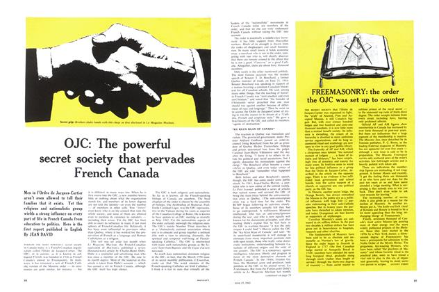 Article Preview: FREEMASONRY: the order the OJC was set up to counter, June 1963 | Maclean's