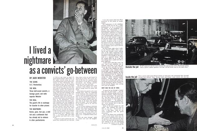 Article Preview: I lived a nightmare as a convicts' go-between, June 1963   Maclean's