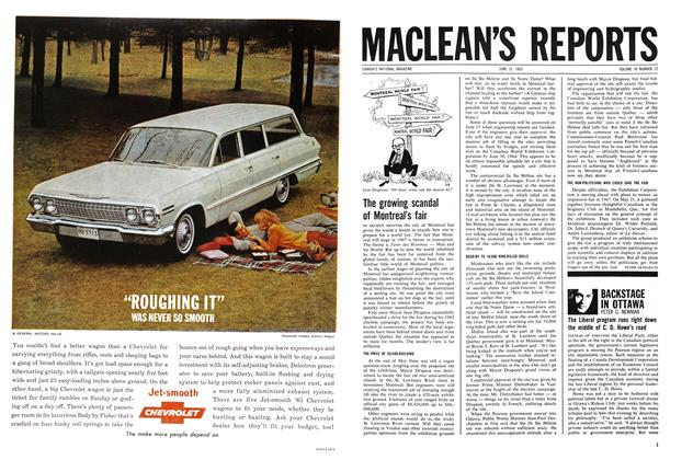 Article Preview: BACKSTAGE IN OTTAWA, June 1963 | Maclean's