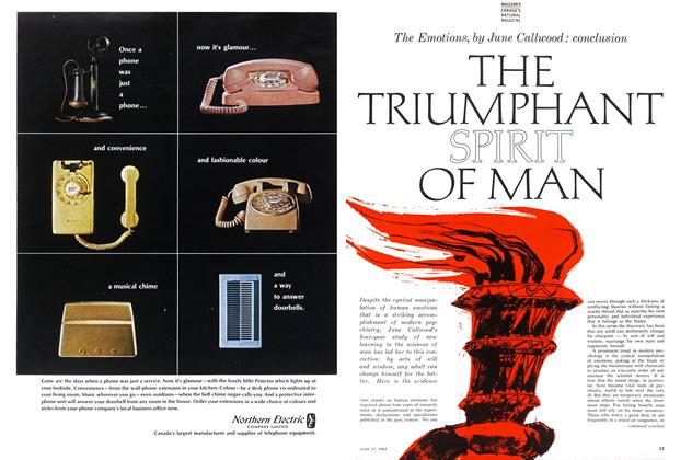 Article Preview: THE TRIUMPHANT SPIRIT OF MAN, June 1963 | Maclean's