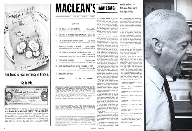Article Preview: MAIL BAG, July 1963 | Maclean's
