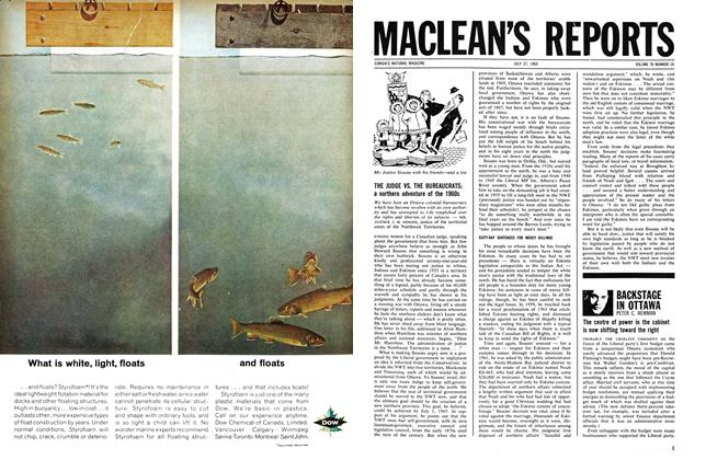 Article Preview: BACKSTAGE IN OTTAWA, July 1963 | Maclean's